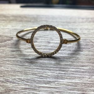 Jewelry - Gold Toned Infinity Circle Bangle Bracelet